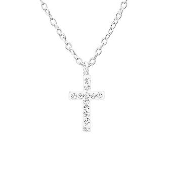Cross - 925 Sterling hopea Jewelled kaulakorut - W35267x