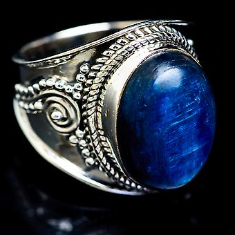 Kyanite Ring Size 6.25 (925 Sterling Silver)  - Handmade Boho Vintage Jewelry RING5069
