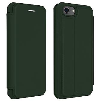Genuine Leather Stand Folio Case Card Slots iPhone 7 /8 /SE 2020-Dux Ducis Green