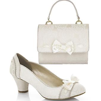 Ruby Shoo Women's Hayley Bridal Court Shoe Pumps and Matching San Marino Bag
