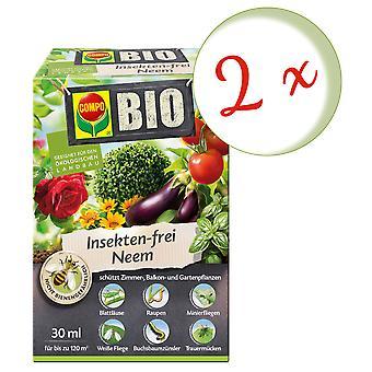 Disperso: 2 x COMPO BIO Neem libre de insectos, 30 ml