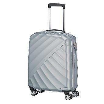 TITAN Shooting Star Handbagage Trolley S, 4 Wielen, 55 cm, 40 L, Zilver