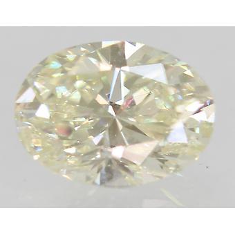 Certified 0.74 Carat I Color VVS1 Oval Enhanced Natural Diamond 6.75x5mm 2VG