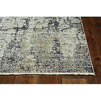 2' x 8' Ivory or Grey Abstract Cracks Runner Rug