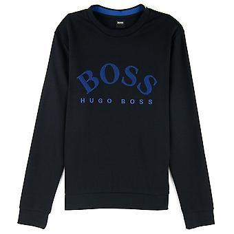 Hugo Boss Salbo Crew Collegepaita Musta 001