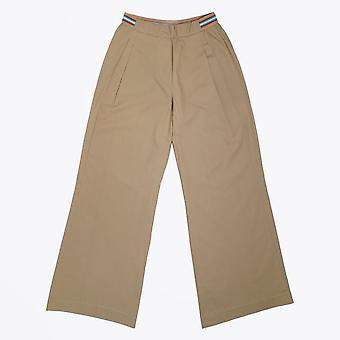 Humilité - Pantalon à jambes larges en coton - Beige
