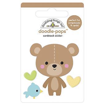 تصميم Doodlebug الدب عناق خربشات الملوثات العضوية الثابتة