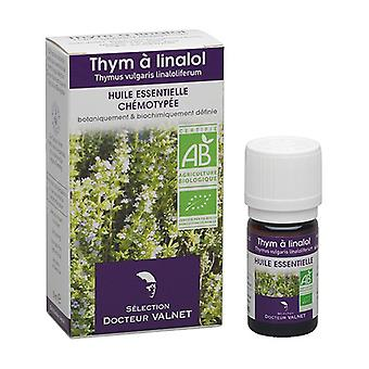 Organic thyme essential oil with linalool 5 ml of essential oil