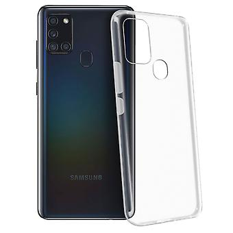 Gelhülle, Backcover für Samsung Galaxy A21s, frosted case – Transparent
