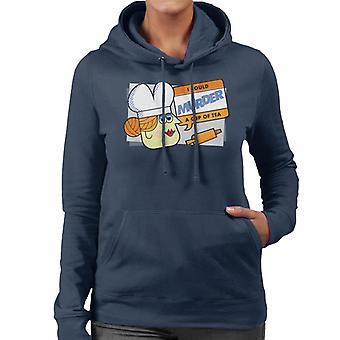 Hasbro Cluedo Mrs White I Could Murder A Cup Of Tea Women's Hooded Sweatshirt