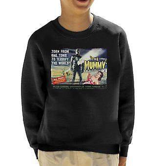 Hammer Horror films Mummy verscheurd van de Tomb Kid ' s Sweatshirt