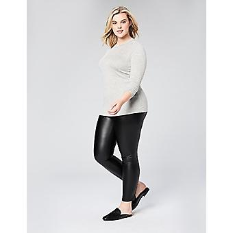 Marchio - Daily Ritual Women's Plus Size Rib Knit Jersey Long-Sleeve Cre...