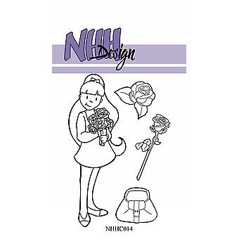 NHH Design Girl with Roses Clear Stamps