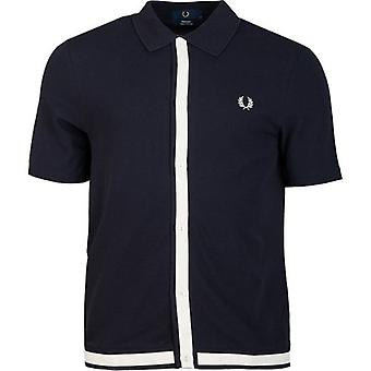 Fred Perry Re-issues Button Through Pique Shirt