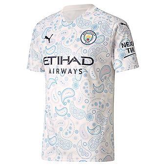Puma Manchester City 2020/21 Mens Short Sleeve Derde voetbalshirt Wit
