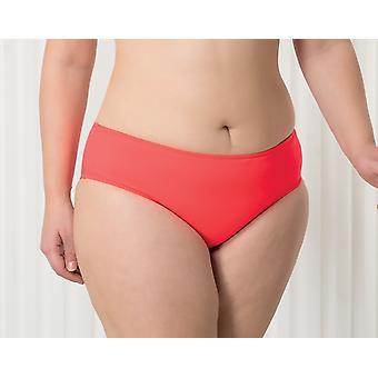 Aqua Perla Womens Harmony Neon rot Bikini Bottom Plus Größe