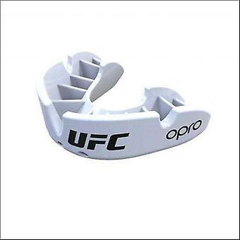 Opro ufc bronze mouth guard white