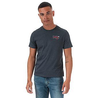 Menn&aps;s Levis Grafisk Crew Hals T-skjorte i Grått