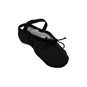 Bloch Girls Dance Dansoft Full Sole Leather Ballet Slipper/Shoe, Black, 10 Wi...