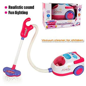 Vacuum Cleaner For Kids Role Hoover Fun Realistic Toy With Light Sound Play (as Shown)