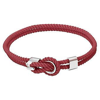 Rochet B3204039 pulsera - Marinero de acero y cordon algodón Coral mujeres