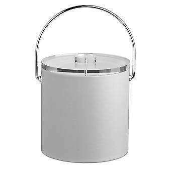 Contempo White 3Qt. Ice Bucket With Thick Lucite, Bale Handle, No Trim