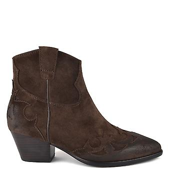 Ash HARLOW Boots Brushed Espresso Suede