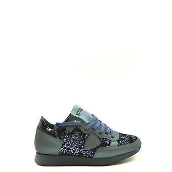 Philippe Modelo Ezbc019054 Zapatillas de cuero azul para mujer y apos;s