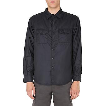 Aspesi I029796196241 Men'camisa de nylon preto