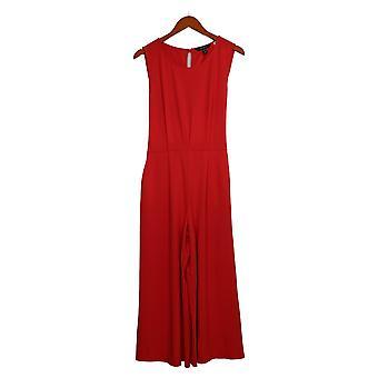 Du Jour Jumpsuits Regular Cropped Wide Leg Knit W/Tie Waist Red A366218