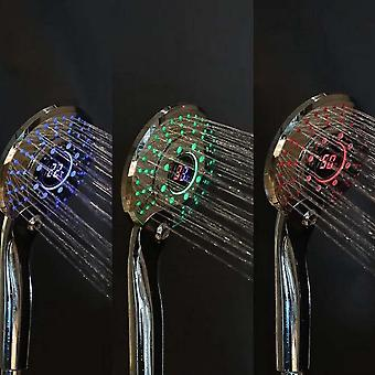Led Digital, Handheld Shower Head With Auto-thermostat Control
