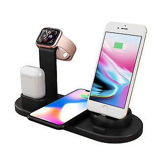 Zikko Zw8014 Fast Wireless Intelligent Charger For Iphone 4in1 X / Iphone 6s / 8 Iphone / Samsung S9 / Airpods
