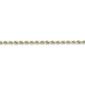 10 k giallo oro tinta aragosta artiglio chiusura 3mm a mano Sparkle-Cut Rope catena cavigliera - 9 pollici - moschettone