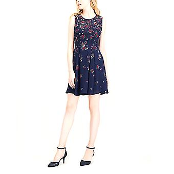 Maison Jules   Printed Fit and Flare Dress