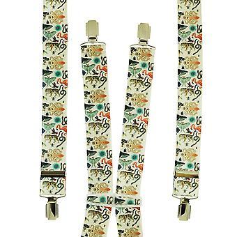 Ties Planet Ivory zoo Animali Uomini's Trouser Braces
