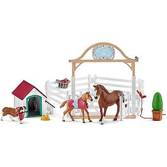 Schleich horse club Hannah's guest horses with ruby the dog play set for