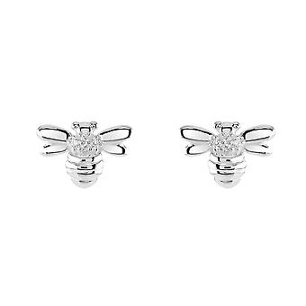 Dew Sterling Silver Bee Stud Earrings 3563CZ