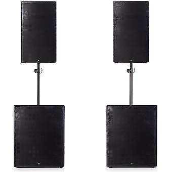 Big gig rig 22 - passive 3200w rms 15 tops and 18 subwoofer pa system