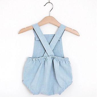 Baby Romper Spring Fall, Linne Bomull Outfit, Unisex