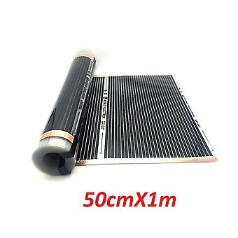 All Sizes M2 Infrared Carbon Ac220v Underfloor Heating Film Low Electrical Warm Mat