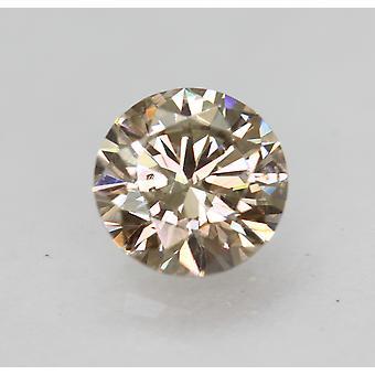 Cert 0,70 Karat Top hellbraun VS1 Runde brillante natürliche Diamant 5,72 mm 3EX