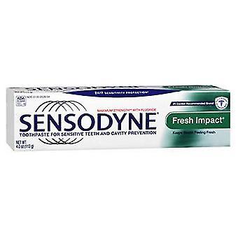 A Becsületes Társaság Sensodyne Friss hatás Fluorid Fogkrém, Menta 4 oz