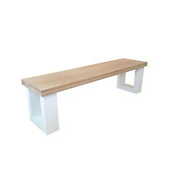 Wood4you - Bank New england eiche 130Lx40Hx38D cm