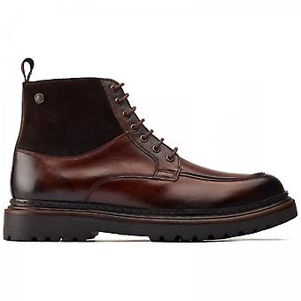 Base London Drummond Mens Leather Ankle Boots Brown