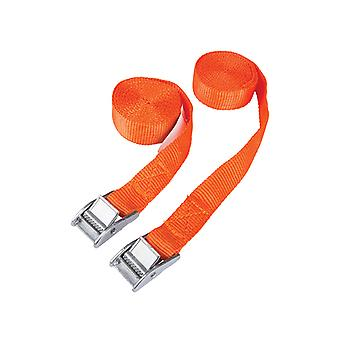 BlueSpot Tools Cam Buckle Tie-Down Straps Twin Pack 2.5m B/S45404