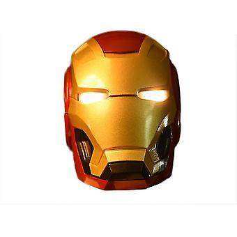 Iron Man Kypärä Led Flash Light Kannettava Kaiutin