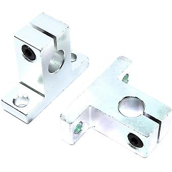 2pcs SK10 Linear Shaft Support