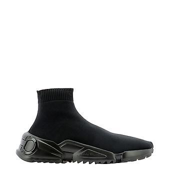 Salvatore Ferragamo 737231 Men's Black Nylon Slip On Sneakers