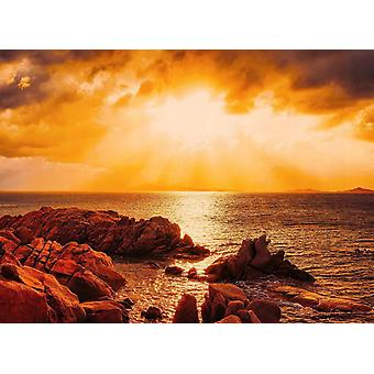 Tapet Mural Beach solnedgång Sardinien