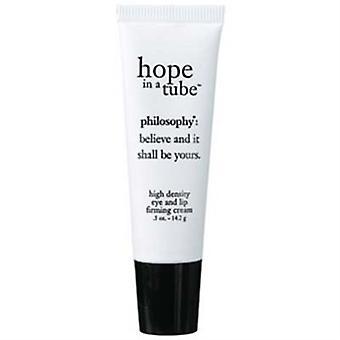 Filosofie hoop In een Tube hoge dichtheid oog en Lip verstevigende crème 0,5 oz / 14.2g